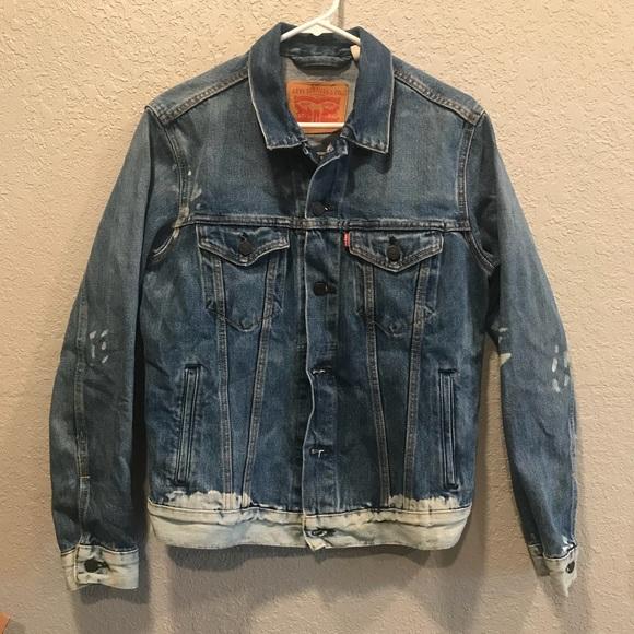 Rare New Levi Distressed Men's Jacket